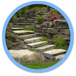 black and white stock Natural Stone Landscaping