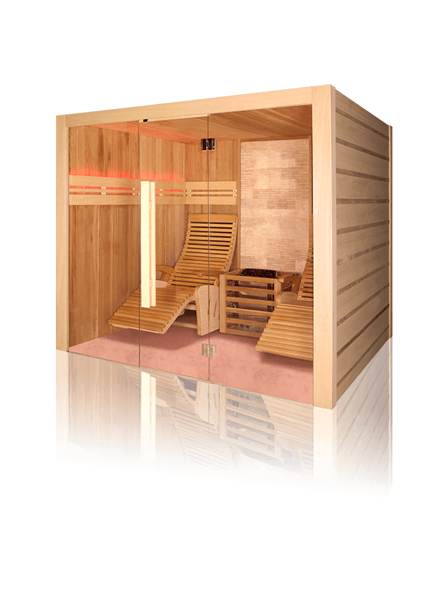 royalty free library Alto the traditional wall. Transparent stone sauna