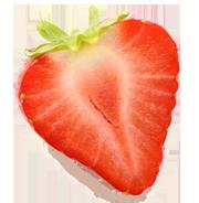 banner download Strawberry half png