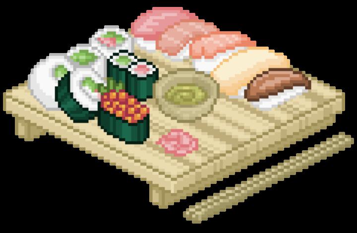 jpg free stock sushi pixel tumblr cute png pastel pink