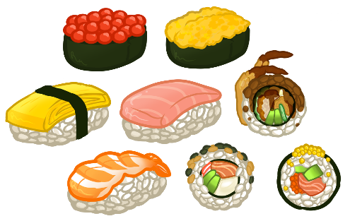 svg free download Collection of free Sushi transparent tumblr