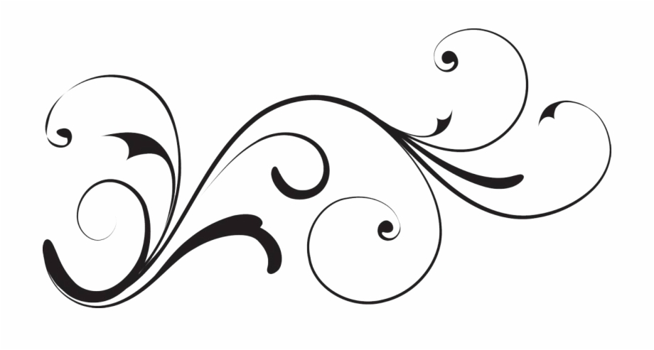 banner free download White decorative clipart with. Transparent swirl