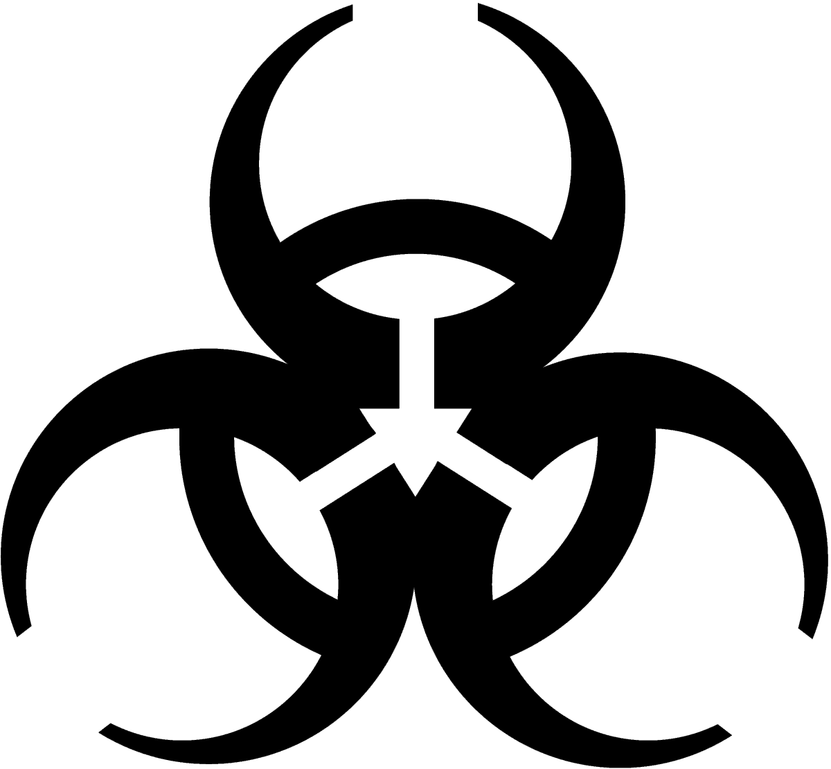 royalty free download Biohazard Simple Symbol transparent PNG