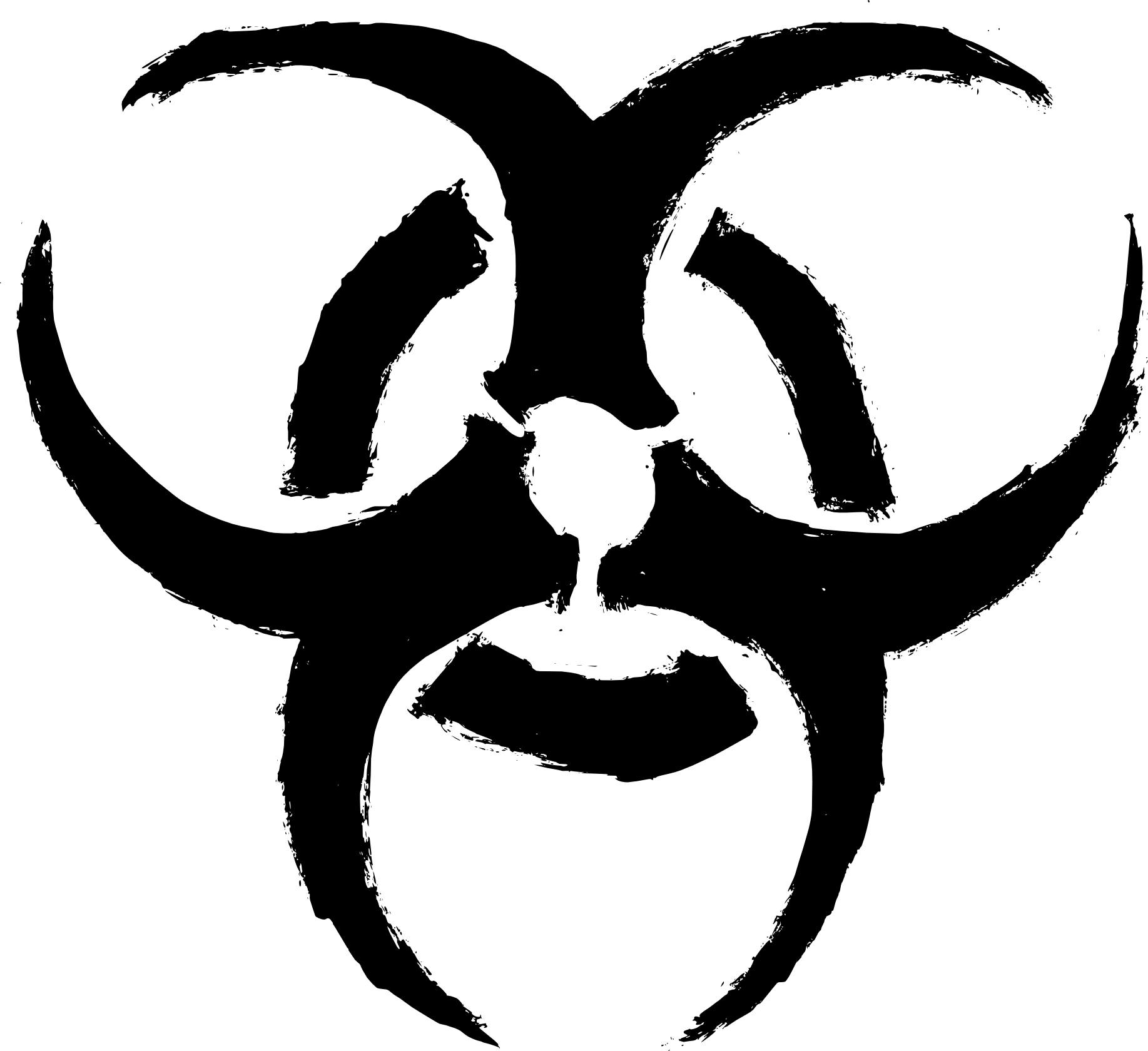 png black and white stock Grunge Biohazard Symbol