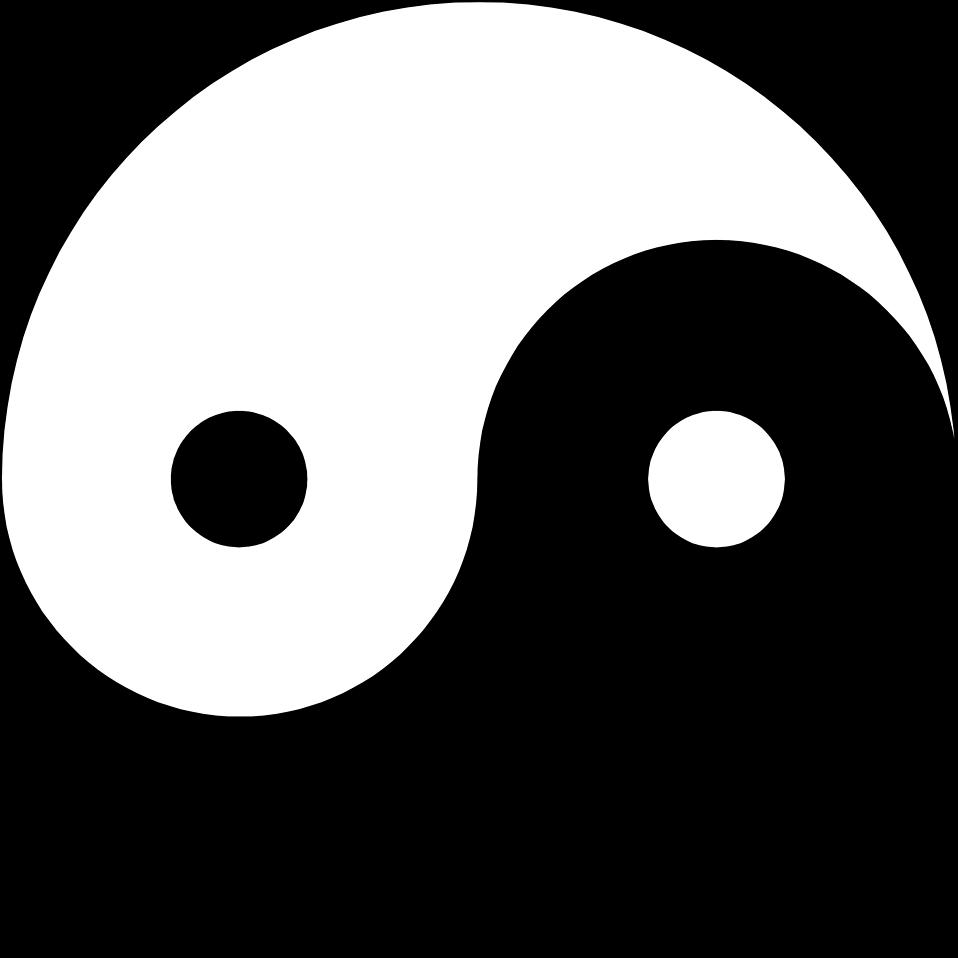 vector library stock Symbols free stock photo. Symbol transparent yin yang.
