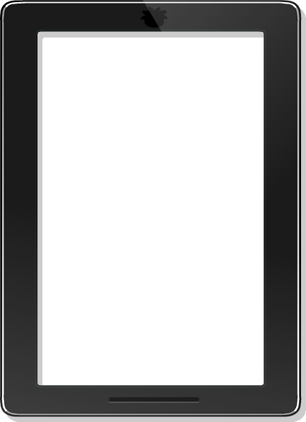 clipart black and white transparent tablet file #106777245