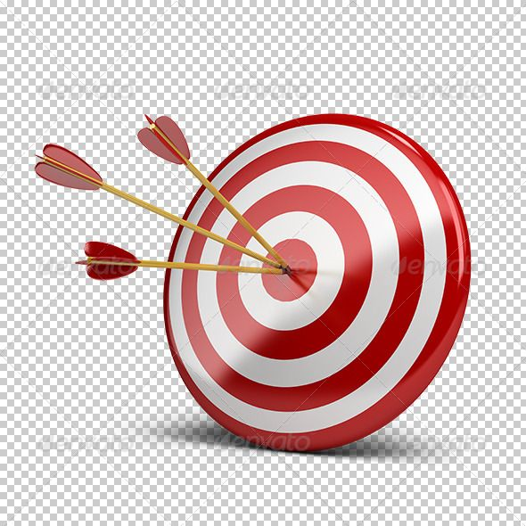 png royalty free Transparent target arrow. Three arrows in d