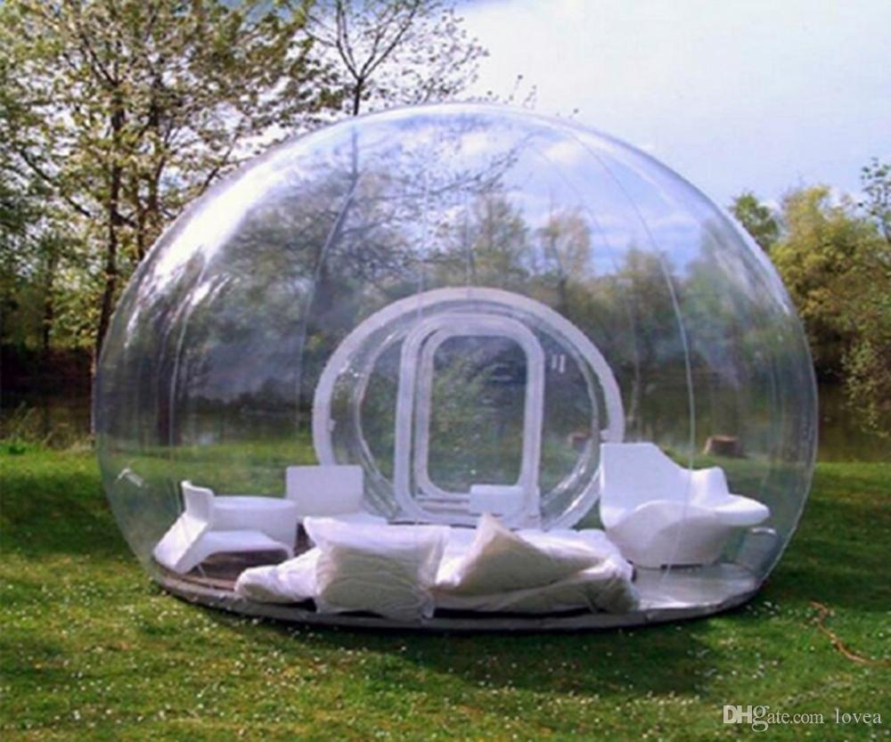 svg Transparent tent. Outdoor camping bubble clear.