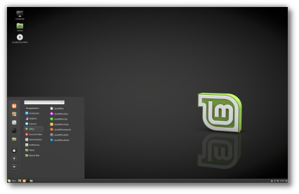 vector stock Linux Mint