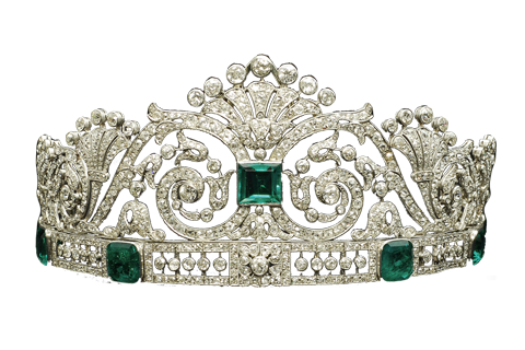 svg stock Diamond Emerald Tiara