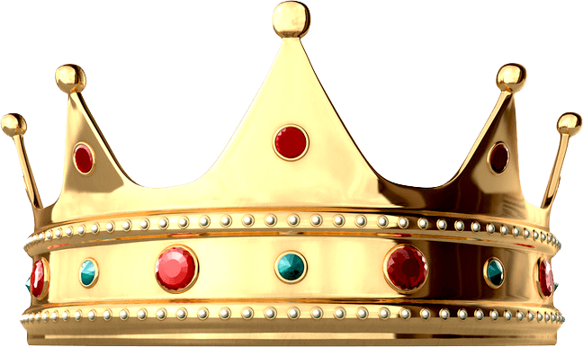 clipart black and white library Shiny King Crown transparent PNG
