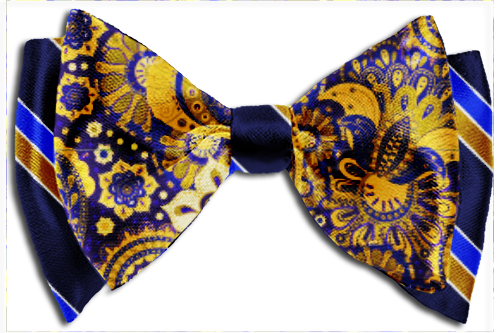 clipart royalty free The Favor Blue Gold Custom Bow Tie