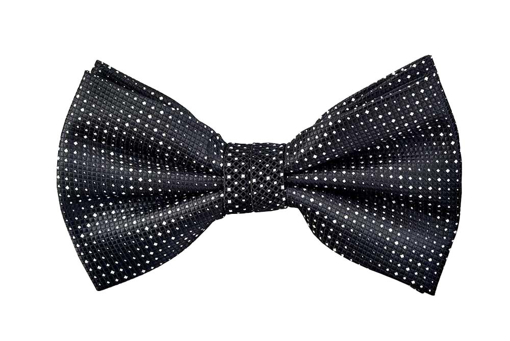 svg freeuse stock Printed Kingston Bow Tie in Black