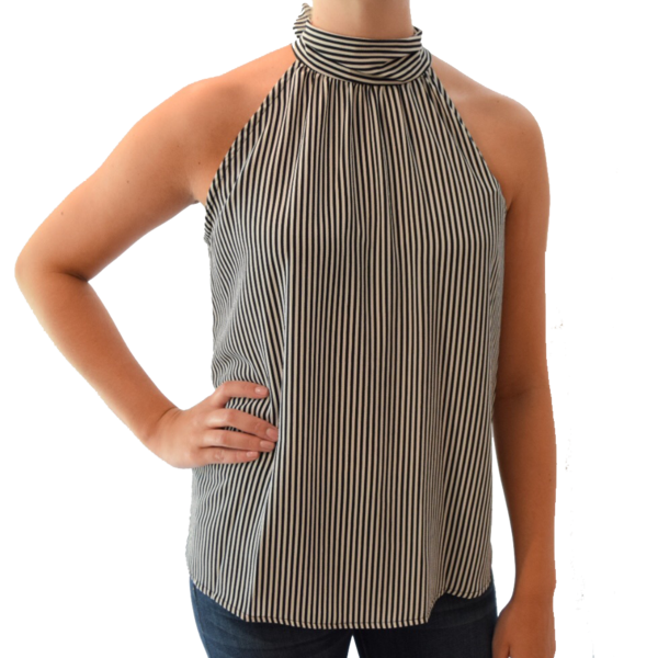 svg free download sleeveless striped top with bow