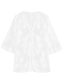 clipart royalty free download Sheer Tulle Tie Front Beach Top WHITE