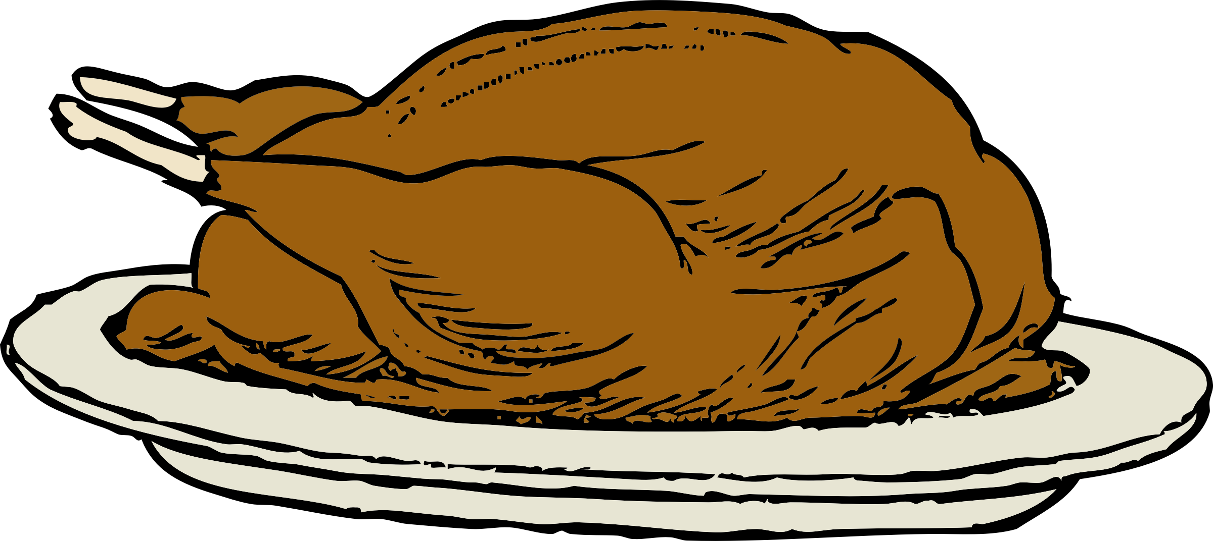 clipart freeuse library turkey on a platter Icons PNG