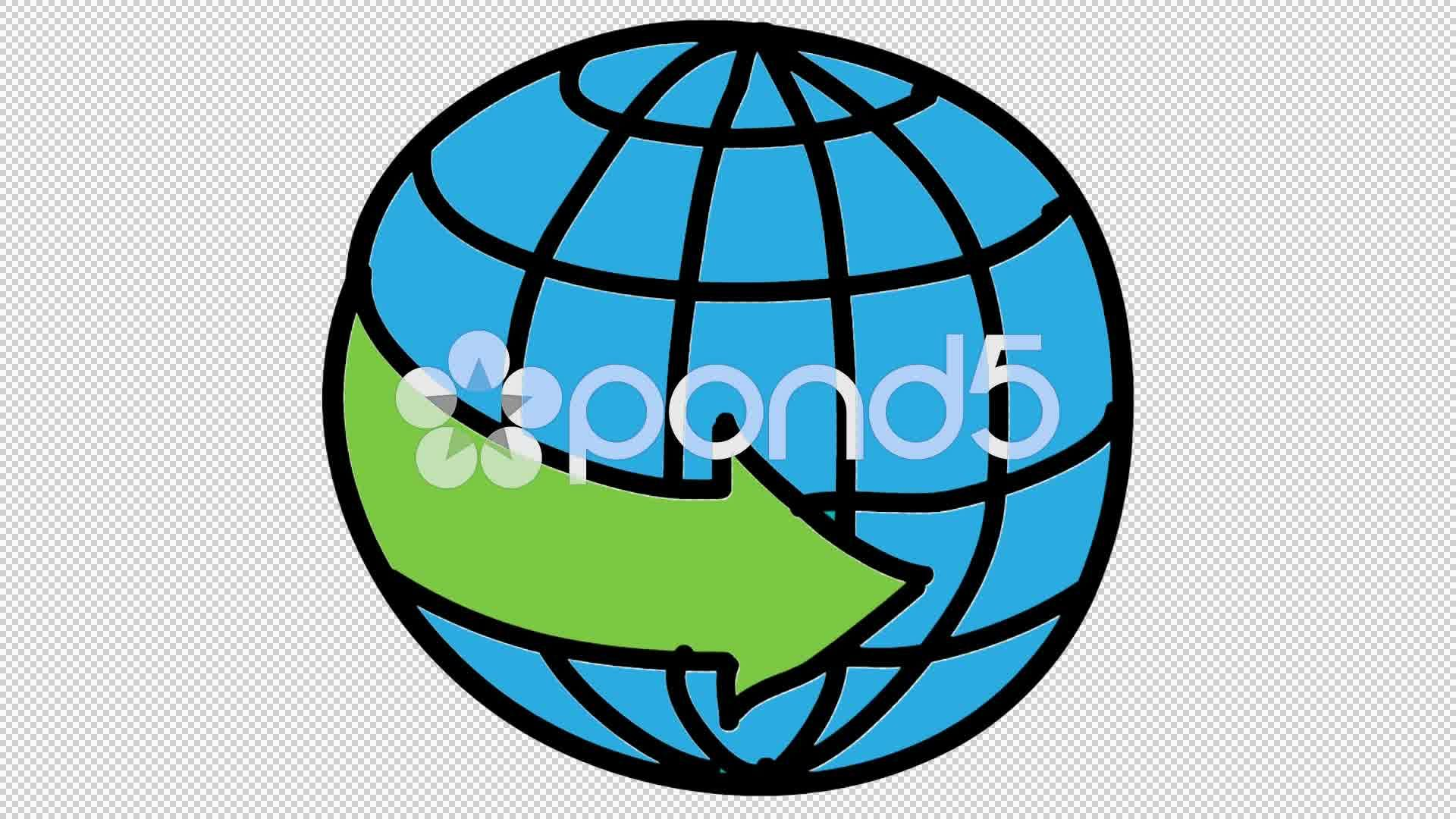 clip royalty free library Transparent videos arrow. Globe animation with background