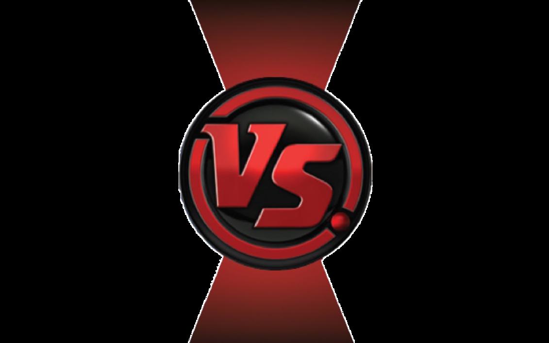 image stock Transparent vs. Cartoon fight club template.