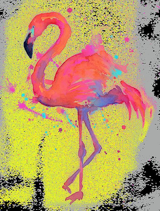banner transparent stock Pink Flamingo