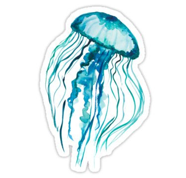 clipart free download Watercolor Jellyfish