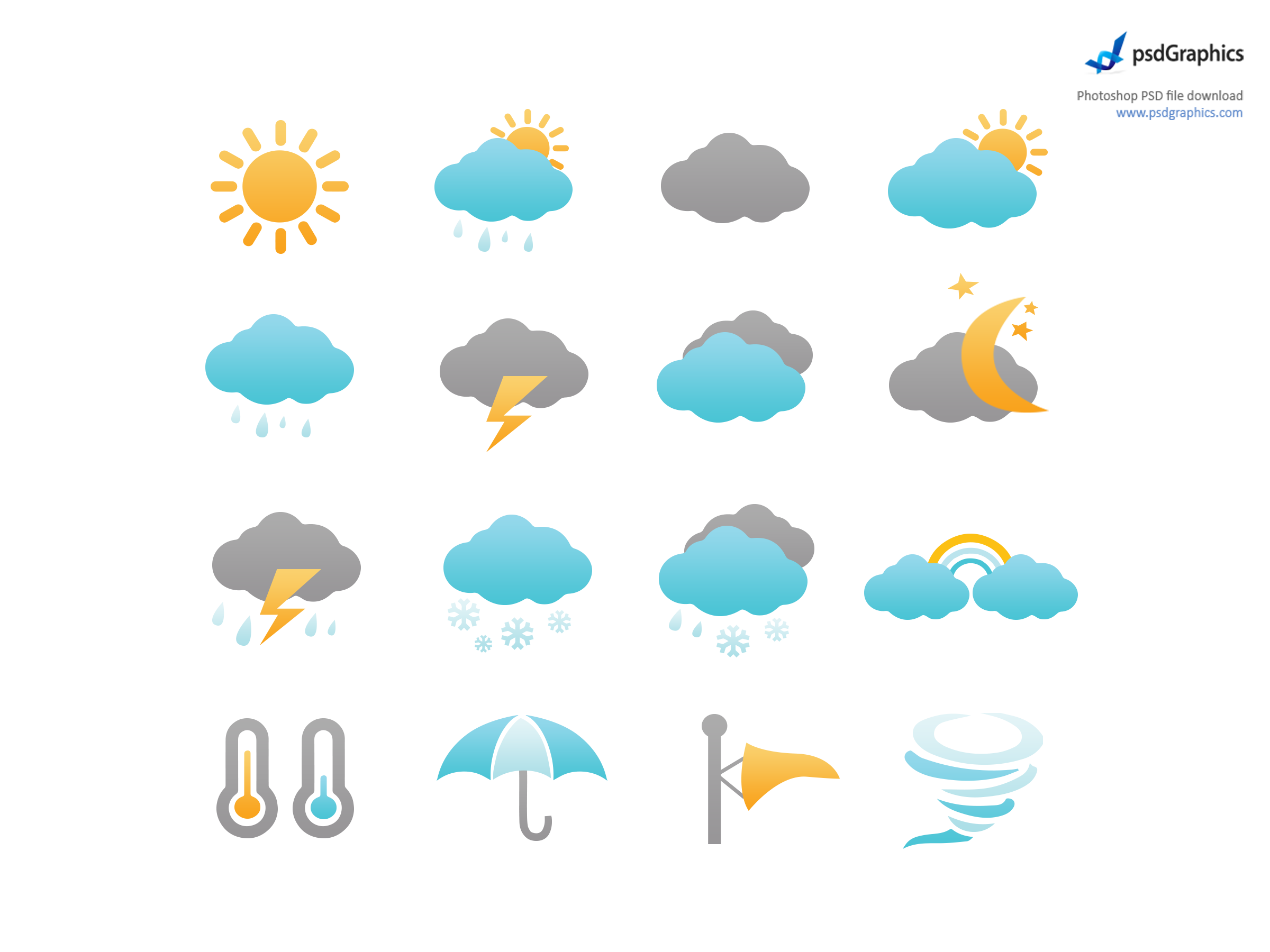 clip library library Weather icons set