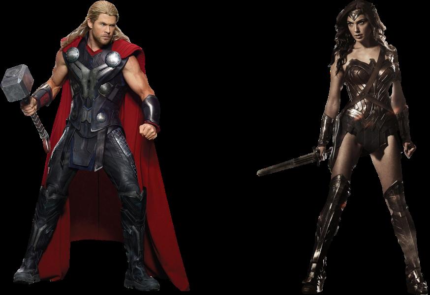 clip royalty free download MCU Thor vs DCEU Wonder Woman