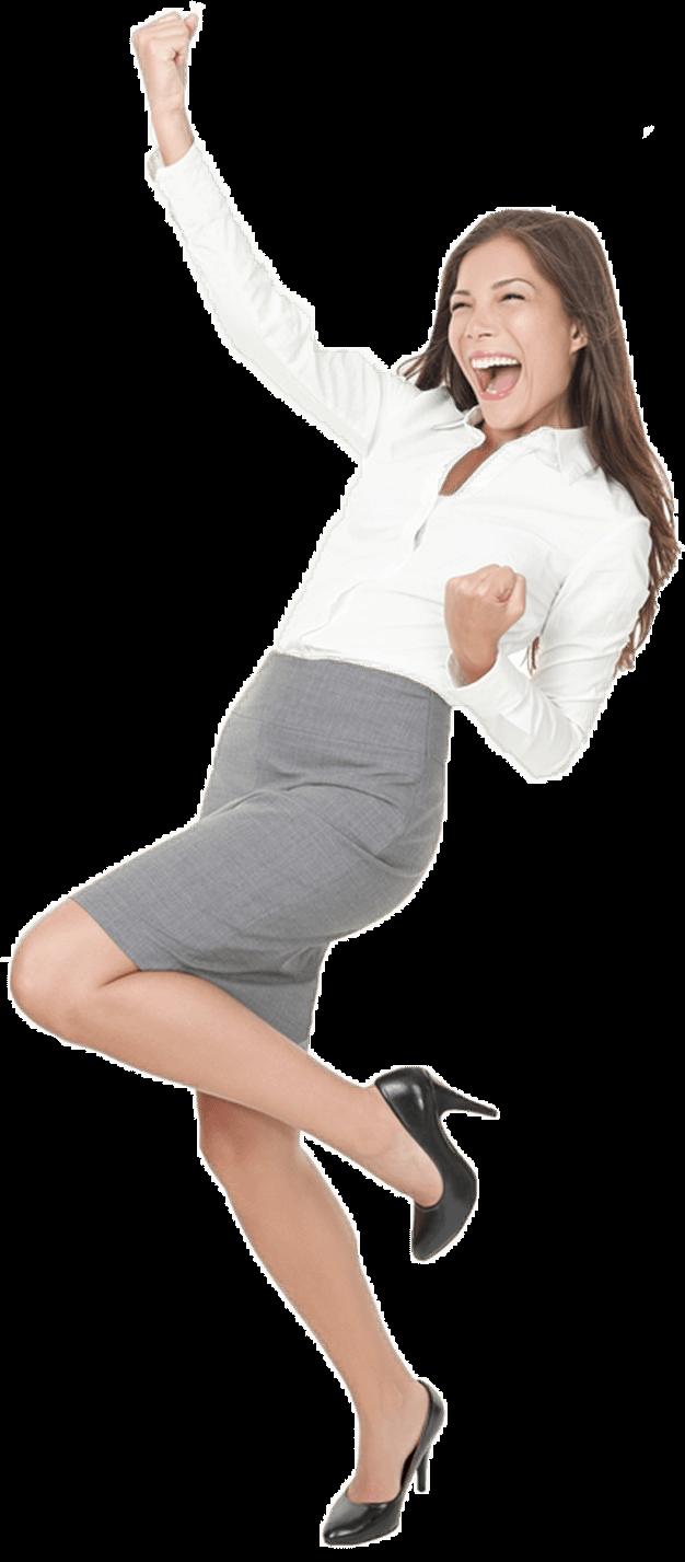 free transparent woman success #107005047
