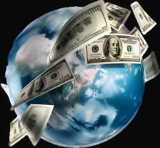 clip black and white Money Around The World
