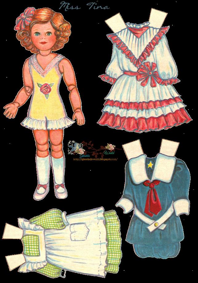 graphic free Displaying Miss Tina paper doll