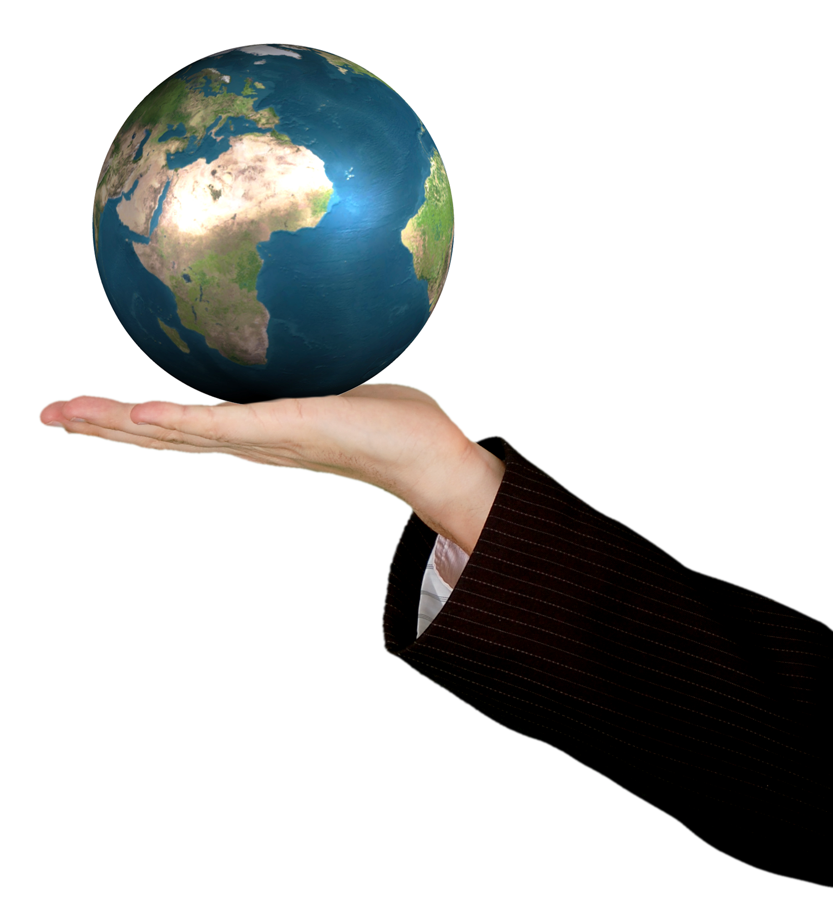 clipart transparent download Business Woman Holding The World PNG Image