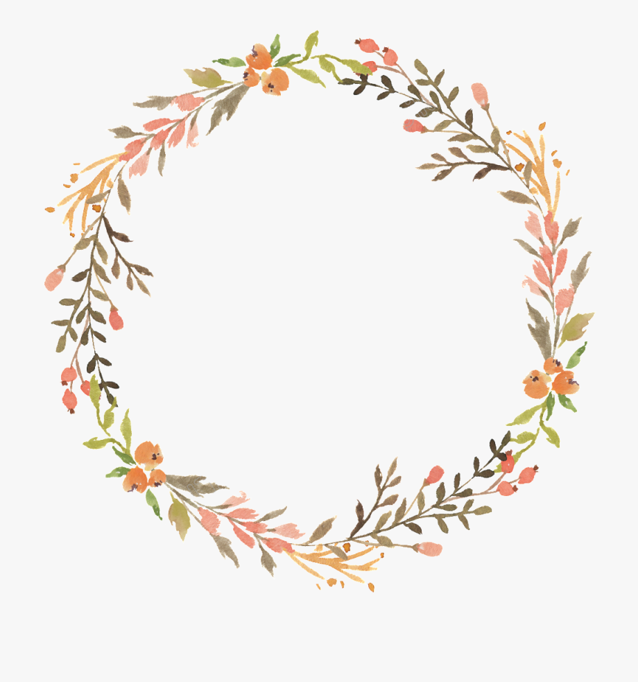 vector black and white Transparent wreath. Floral watercolor