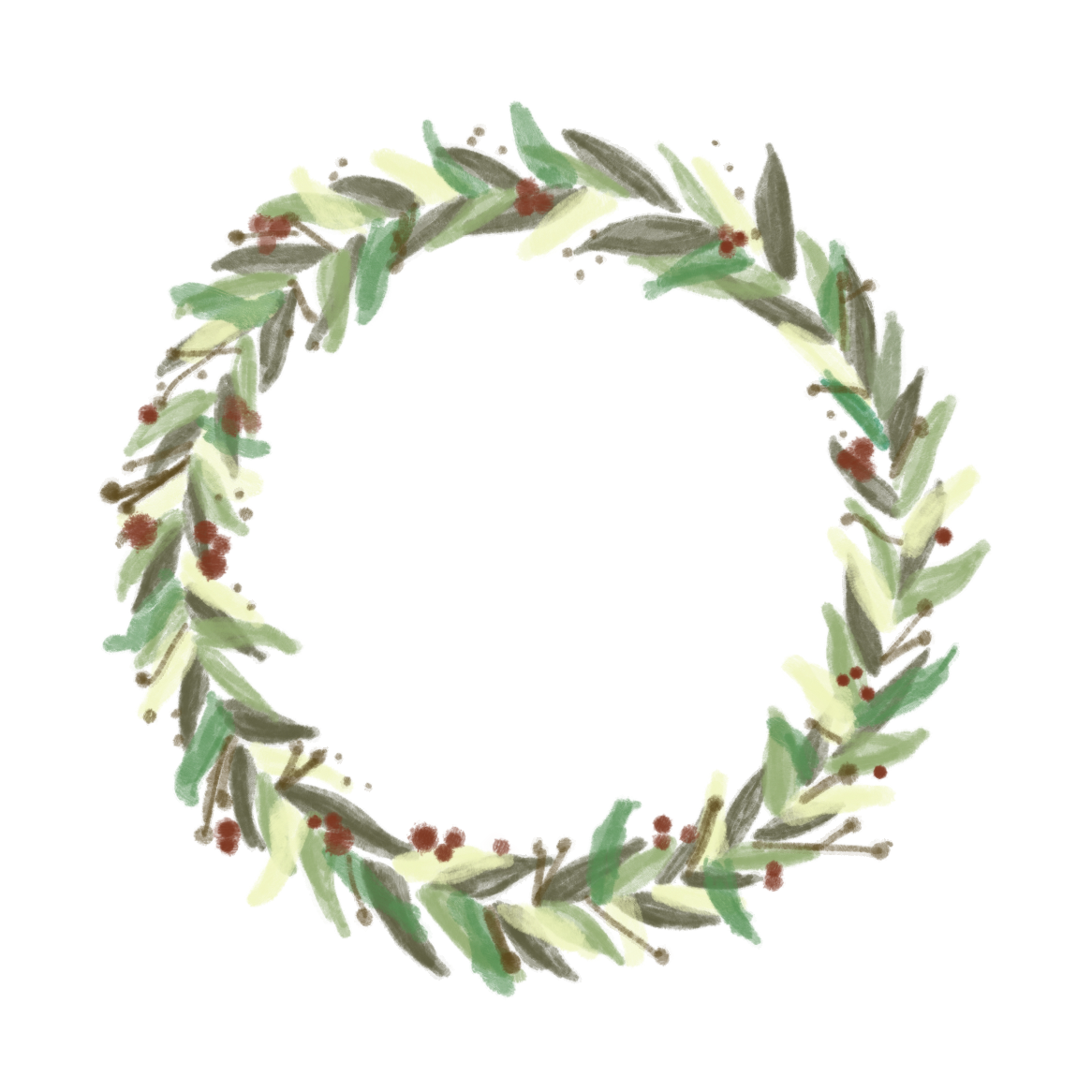 clip art download Painted graphic free download. Transparent wreath