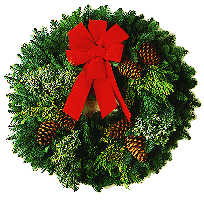 banner freeuse download Christmas Wreath transparent background