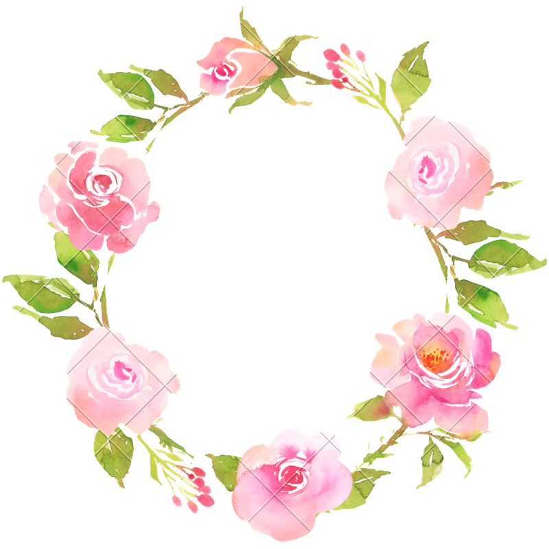 graphic transparent library FLower Bohemian Wreath with Roses