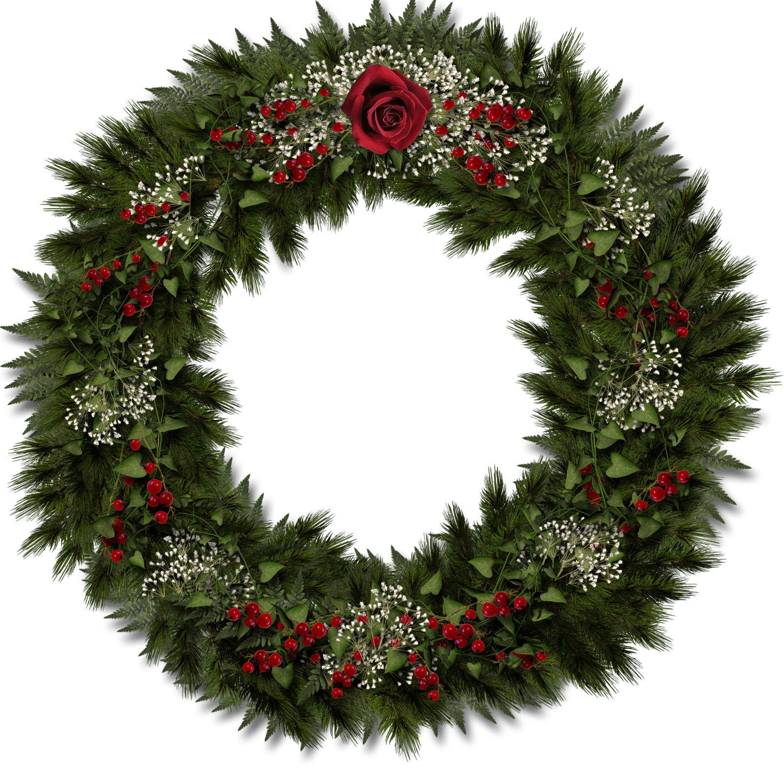 free download Christmas Door Decoration transparent PNG