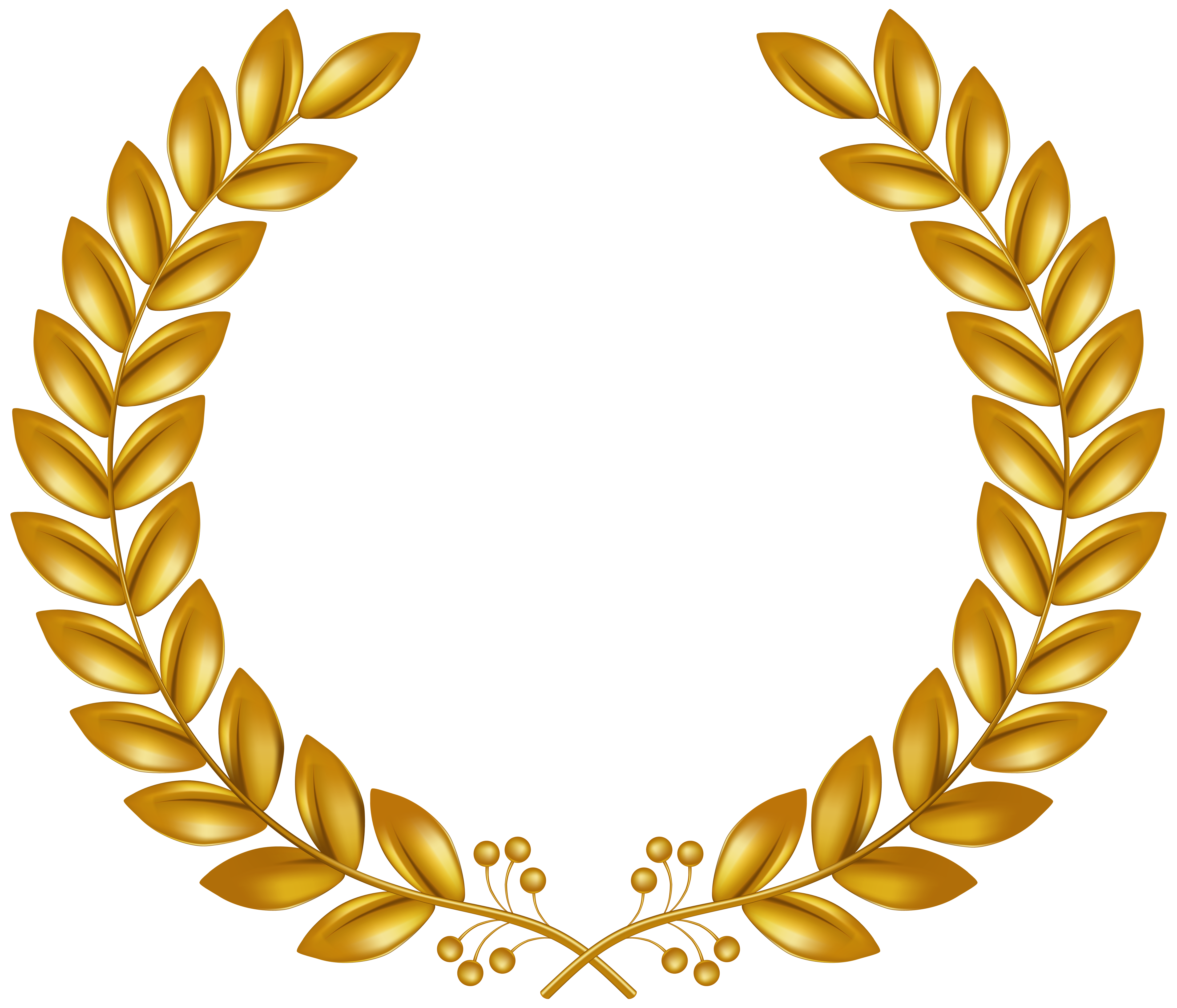graphic freeuse Wreath png clip art. Golden clipart transparent