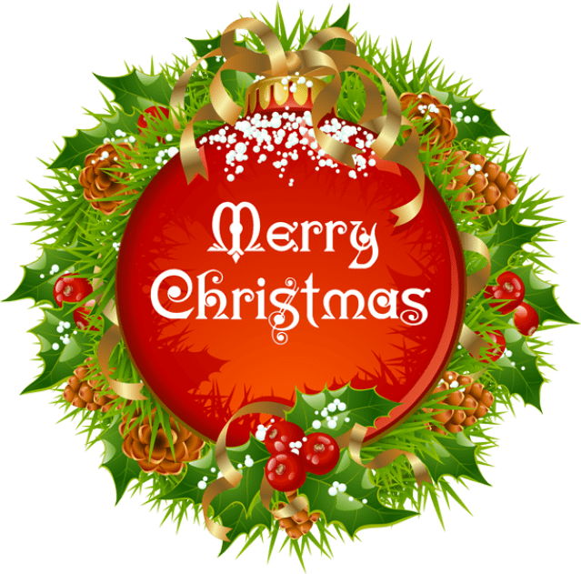 svg free download Merry Chrismas Wreath PNG