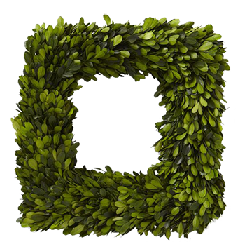 png transparent library Boxwood Square Wreath