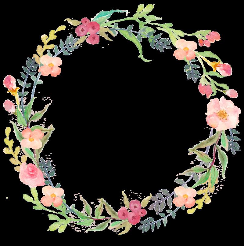 clip transparent download cute svg watercolor floral wreath #111183722