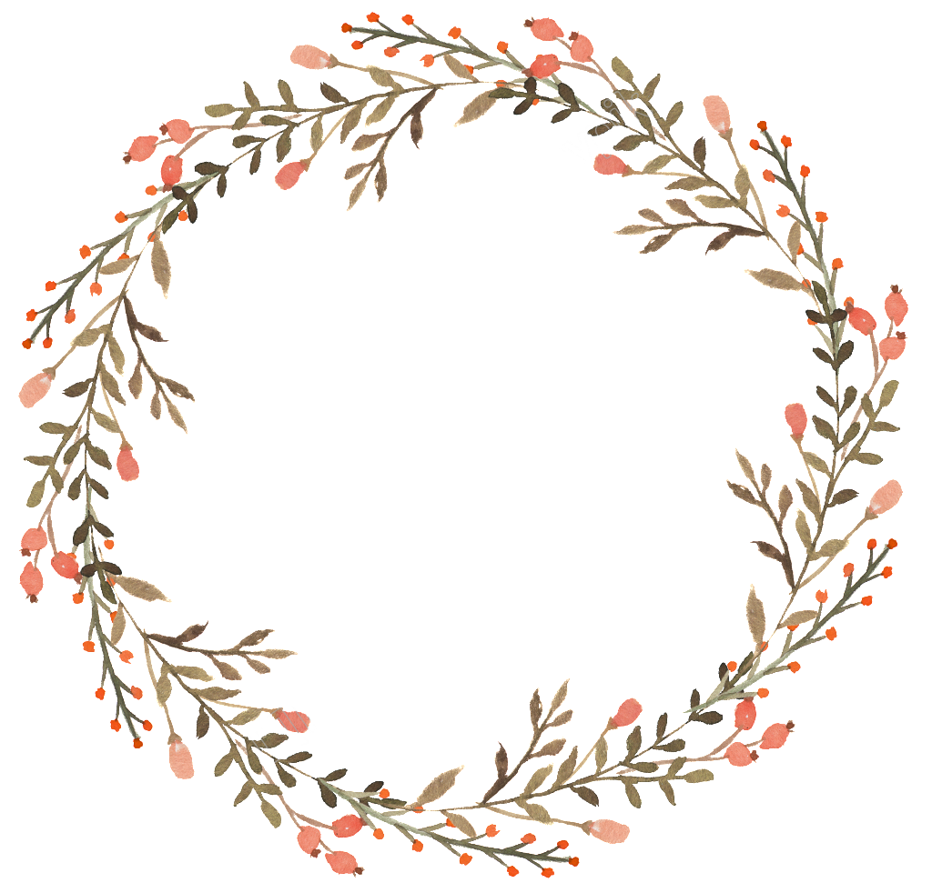vector free Transparent wreath. Floral watercolor decorative flower