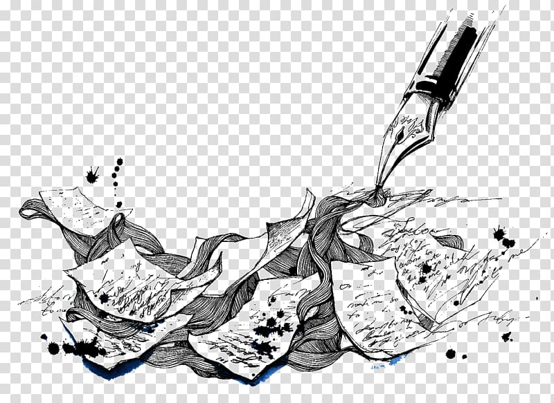 clip art black and white library Creative writing others background. Transparent writer.