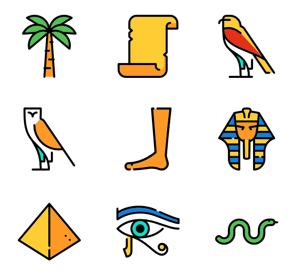 banner free library Egypt Icons