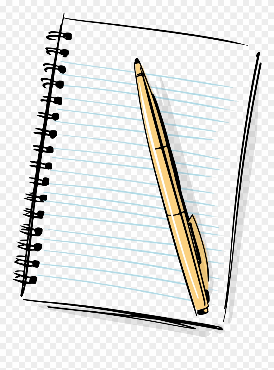 black and white stock Hd cartoon pencil png. Transparent writer pen and paper