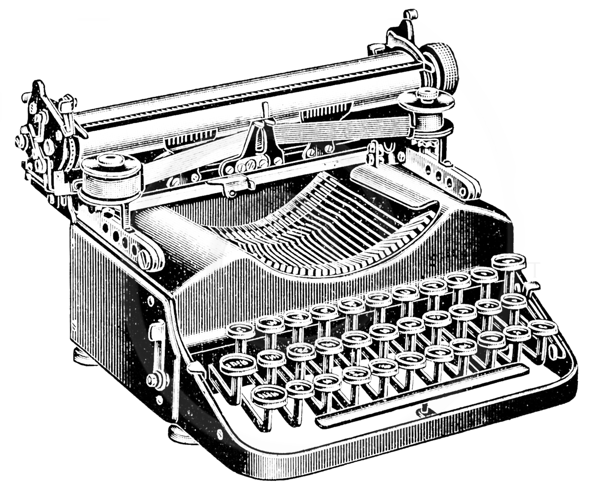 clip art royalty free library Typewriter vector vintage. Collection of free drawing
