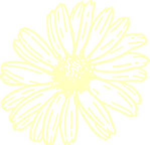 vector Transparent Yellow Flower Clip Art at Clker