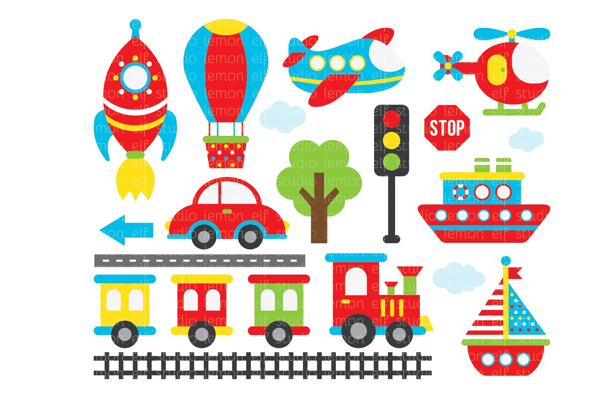 banner freeuse library Les cl a illustrations. Transportation clipart.