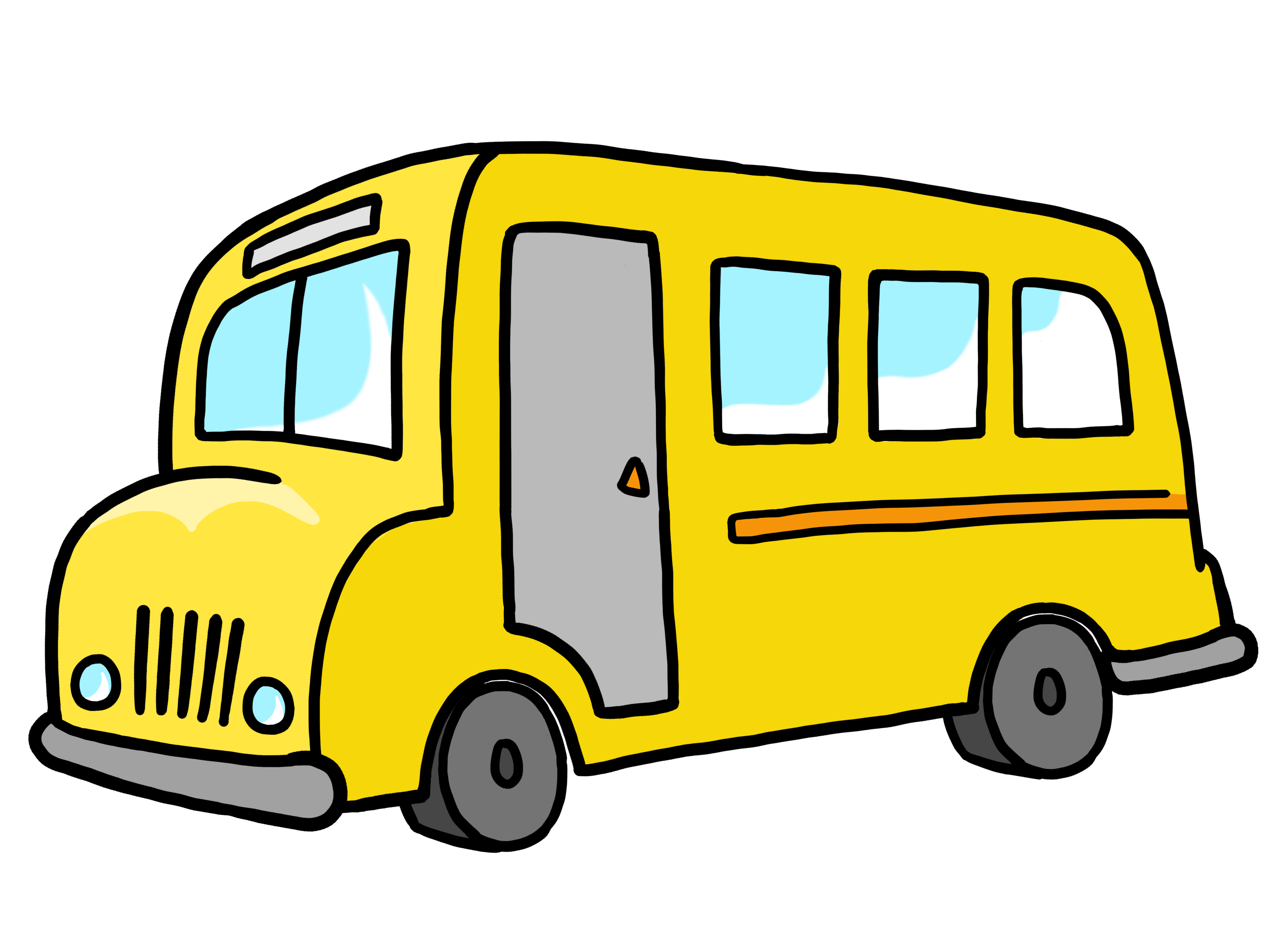 vector transparent library Bus . Transportation clipart.