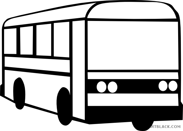 vector freeuse library Bus outline clipartblack com. Transportation clipart black and white