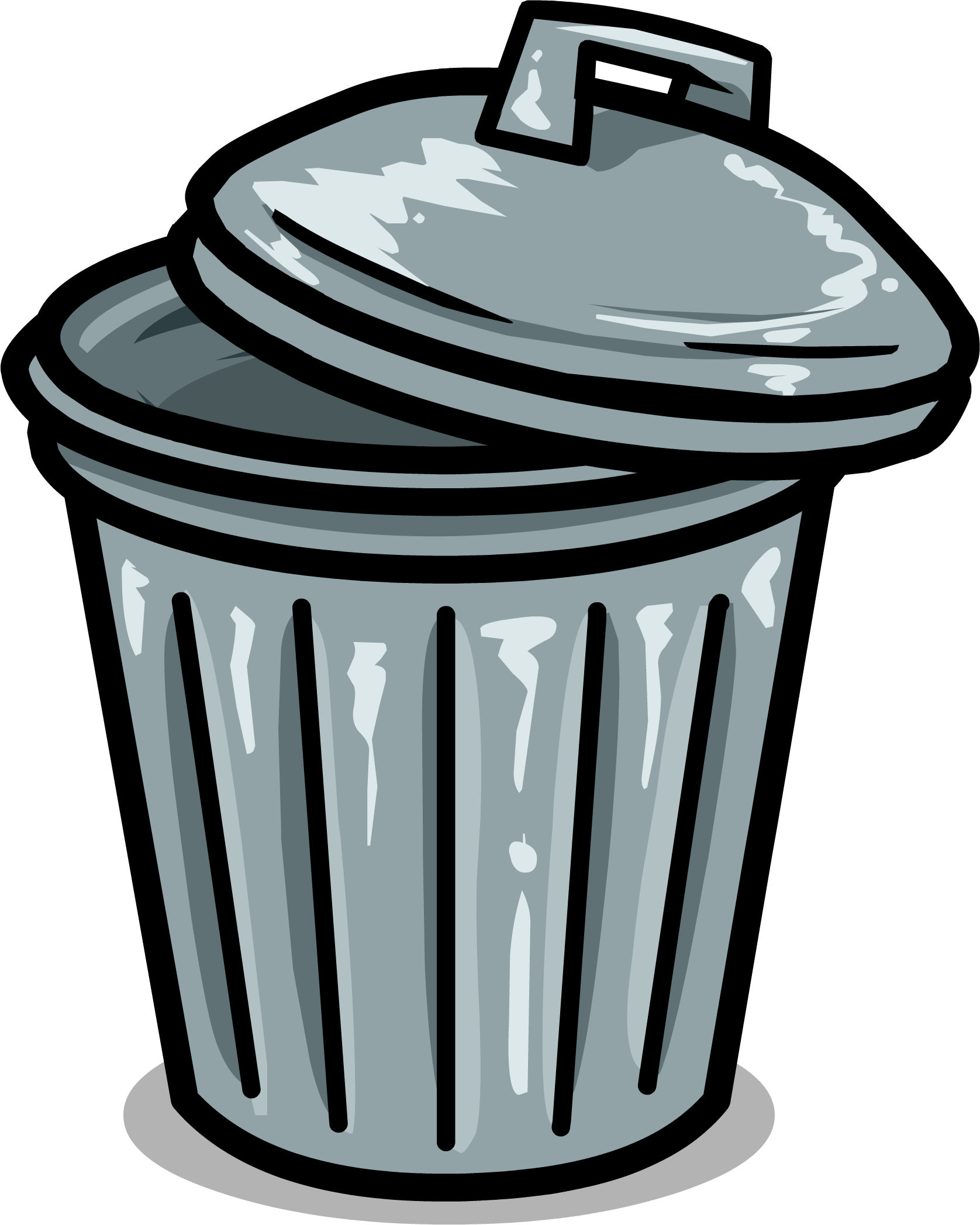 svg freeuse stock Trashcan clipart bin. Club penguin wiki fandom.