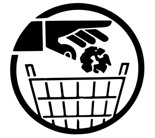 picture transparent File bin png wikimedia. Trash can clipart black and white